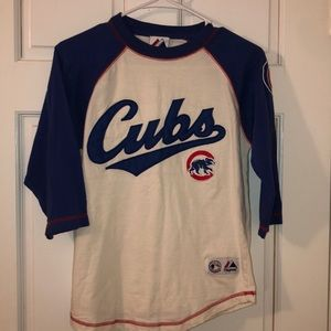 Youth L Chicago Cubs baseball tee